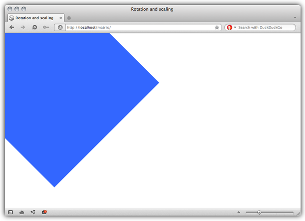 A screenshot of a CSS Transform.