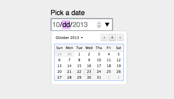 Date picker in Chrome with mininmum and maximum dates.