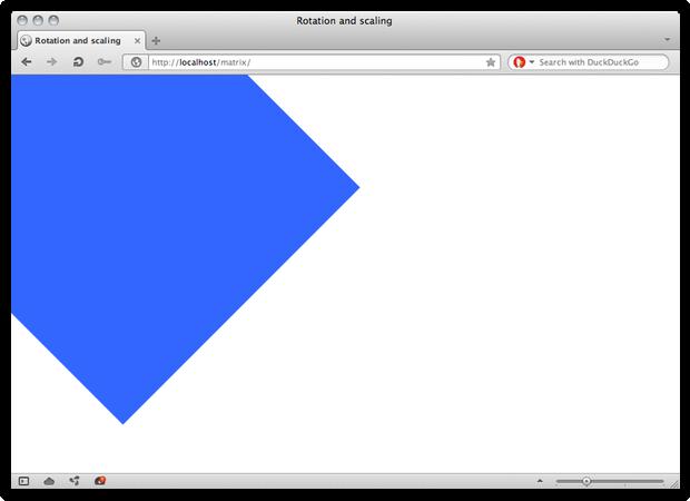 A screenshot of a CSS Transform.
